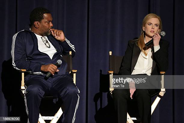 """Director Lee Daniels and actress Nicole Kidman attend """"The Paperboy"""" Q&A with Nicole Kidman at Harmony Gold Theatre on November 24, 2012 in Los..."""