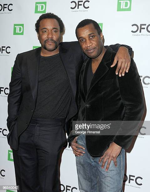 Director Lee Daniels and Canadian filmmaker Clement Virgo attend The Canadian Film Centre's Salute To Black History Month at the Isabel Bader Theatre...