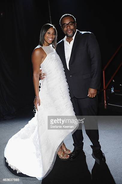 Director Lee Daniels and Clara Daniels attends the 20th Annual Screen Actors Guild Awards at The Shrine Auditorium on January 18 2014 in Los Angeles...
