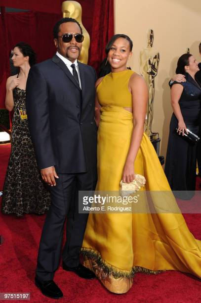 Director Lee Daniels and daughter Clara arrive at the 82nd Annual Academy Awards held at Kodak Theatre on March 7 2010 in Hollywood California