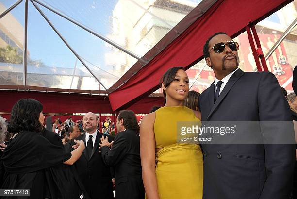Director Lee Daniels and daughter Clara Daniels arrive at the 82nd Annual Academy Awards held at Kodak Theatre on March 7 2010 in Hollywood California