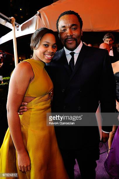 Director Lee Daniels and daughter Clara Daniels attends the 82nd Annual Academy Awards Governor's Ball held at Kodak Theatre on March 7 2010 in...