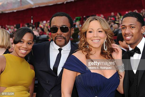 Director Lee Daniels and daughter Clara singer/actress Mariah Carey and husband actor/producer Nick Cannon arrive at the 82nd Annual Academy Awards...