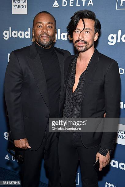 Director Lee Daniels and Jahil Fisher attend the 27th Annual GLAAD Media Awards in New York on May 14 2016 in New York City