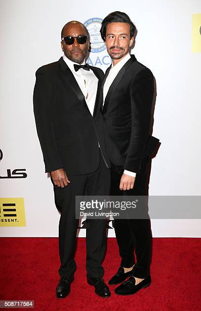 Director Lee Daniels and Jahil Fisher attend the 47th NAACP Image Awards presented by TV One at Pasadena Civic Auditorium on February 5 2016 in...