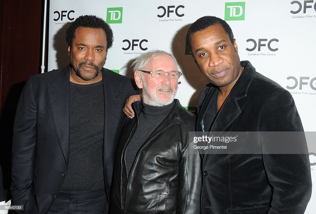 Director Lee Daniels, director/CFC Founder Norman Jewison and Canadian filmmaker Clement Virgo attend The Canadian Film Centre's Salute To Black History Month at the Isabel Bader Theatre on February 9, 2010 in Toronto, Canada.