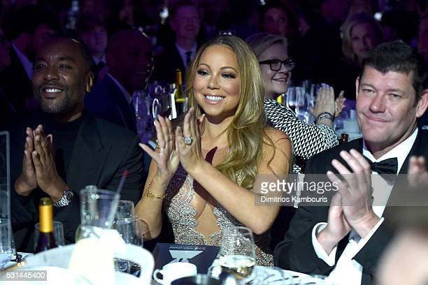 Director Lee Daniels Mariah Carey and James Packer attend the 27th Annual GLAAD Media Awards in New York on May 14 2016 in New York City