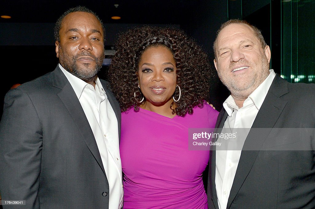 Director Lee Daniels, Oprah Winfrey, and Harvey Weinstein attend the after party for LEE DANIELS' THE BUTLER Los Angeles premiere, hosted by TWC, Budweiser and FIJI Water, Purity Vodka and Stack Wines, held at the Ritz-Carlton on August 12, 2013 in Los Angeles, California.