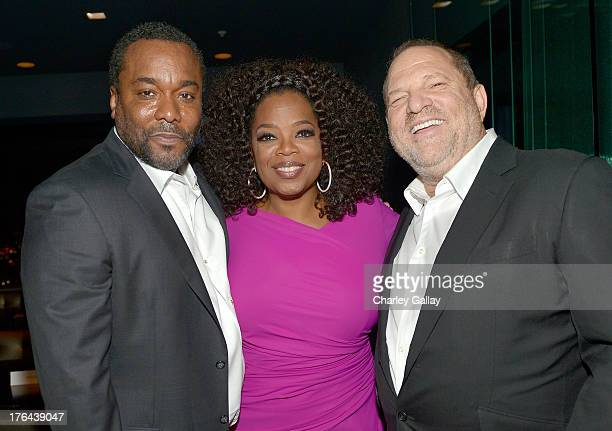 Director Lee Daniels Oprah Winfrey and Harvey Weinstein attend the after party for LEE DANIELS' THE BUTLER Los Angeles premiere hosted by TWC...