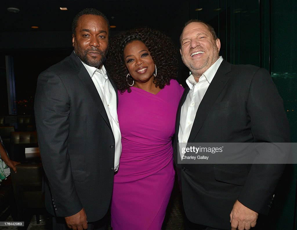 Director Lee Daniels, Oprah Winfrey and Harvey Weinstein attend the after party for LEE DANIELS' THE BUTLER Los Angeles premiere, hosted by TWC, Budweiser and FIJI Water, Purity Vodka and Stack Wines, held at the Ritz-Carlton on August 12, 2013 in Los Angeles, California.
