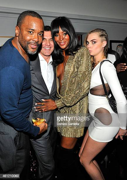 Director Lee Daniels president CEO Andre Balazs Properties Andre Balazs modelactress Naomi Campbell and model Cara Delevingne attend the W Magazine...