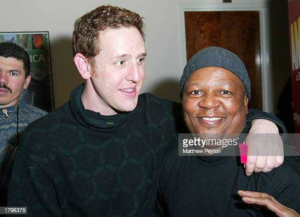 Director Lee Hirsch and bass player Bakithi Kumalo attend the New York premiere of Artisan's Amandla A Revolution In Four Part Harmony at South...
