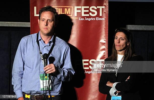"""Director Lee Hirsch and Senior Film Programmer, Film Independent Maggie MacKay speak at """"The Bully Project"""" Q & A during the 2011 Los Angeles Film..."""