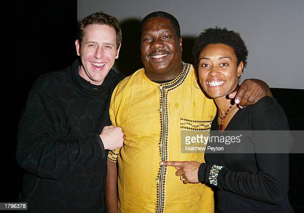 Director Lee Hirsch singer Vusi Mahlasela and producer Sherry Simpson attend the New York premiere of Artisan's Amandla A Revolution In Four Part...