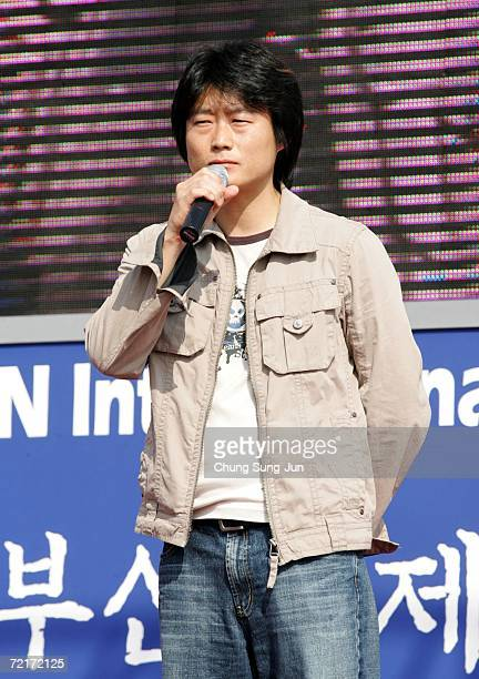 Director Lee JungBum of the Cruel Winter Blues attends a cast greeting session of the Pusan International Film Festival on October 15 2006 in Pusan...