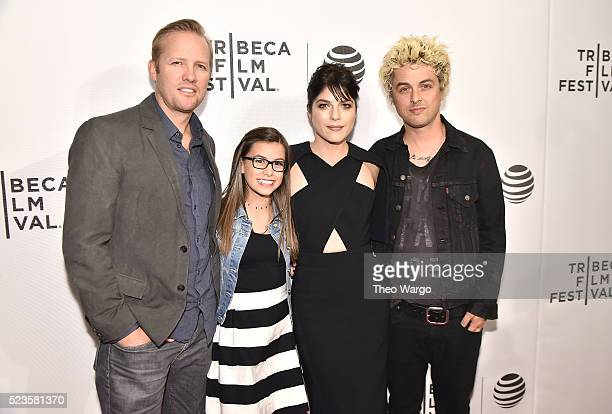 Director Lee Kirk actress Madisyn Shipman actress Selma Blair and cast member recording artist Billie Joe Armstrong attends 'Geezer' Premiere 2016...