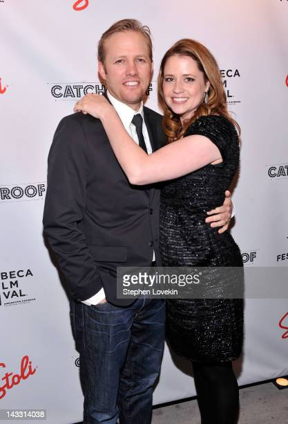Director Lee Kirk and actress Jenna Fischer attend the Tribeca Film Festival 2012 AfterParty For The Giant Mechanical Man Hosted By Stolichnaya Vodka...
