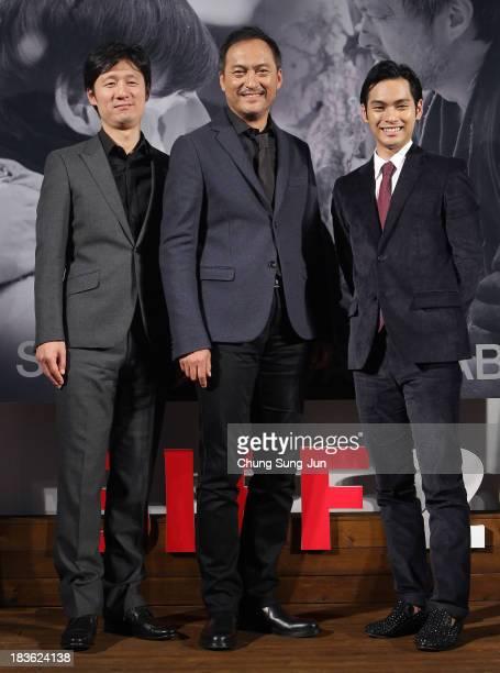 Director Lee SangIl actor Ken Watanabe and Yuya Yagira atend the Open Talk 'Unforgiven' at the BIFF Hill during 18th Busan International Film...