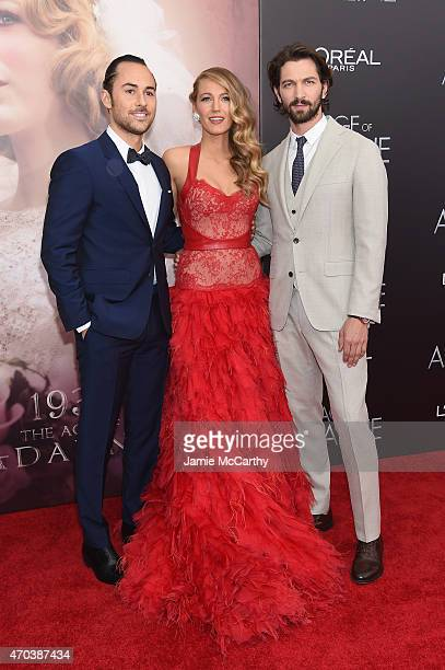 Director Lee Toland Krieger actress Blake Lively and actor Michiel Huisman attend The Age of Adaline premiere at AMC Loews Lincoln Square 13 theater...