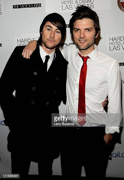 Director Lee Toland Krieger and actor Adam Scott attend The Vicious Kind Party at the Hollywood Life House on January 17 2009 in Park City Utah