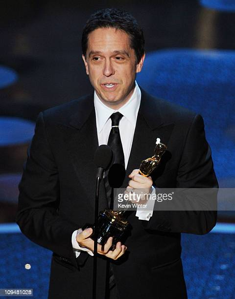 Director Lee Unkrich accepts the award for Best Animated Feature Film for 'Toy Story 3' onstage during the 83rd Annual Academy Awards held at the...