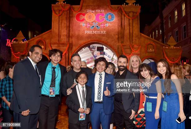 Director Lee Unkrich Actor Anthony Gonzalez Codirector/Screenwriter Adrian Molina Producer Darla K Anderson and guests at the US Premiere of...