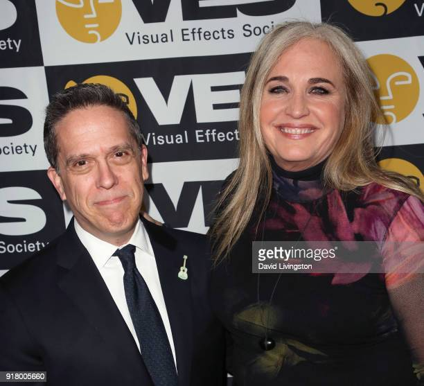 Director Lee Unkrich and producer Darla K Anderson attend the 16th Annual VES Awards at The Beverly Hilton Hotel on February 13 2018 in Beverly Hills...