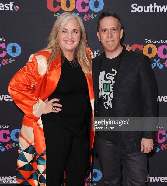 Director Lee Unkrich and producer Darla K Anderson attend the premiere of 'Coco' at El Capitan Theatre on November 8 2017 in Los Angeles California