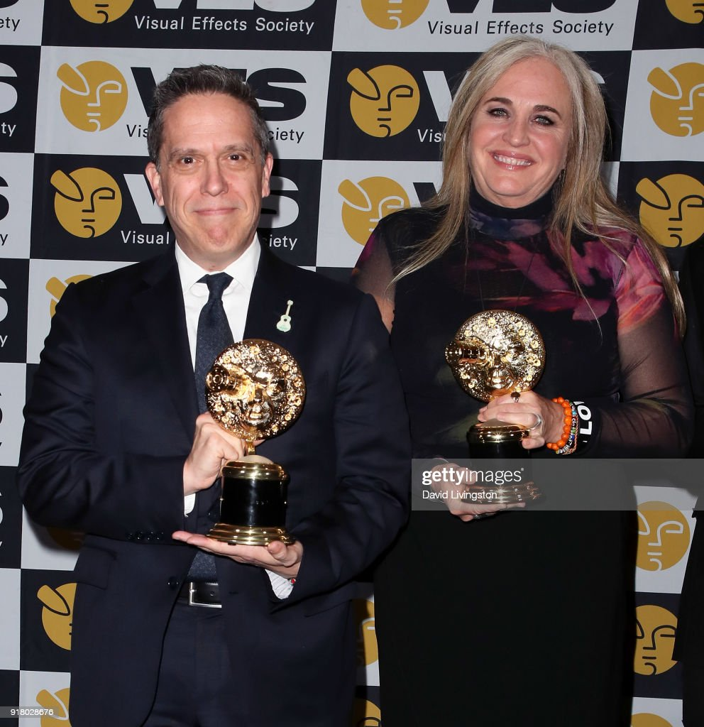Director Lee Unkrich (L) and producer Darla K. Anderson attend the press room at the 16th Annual VES Awards at The Beverly Hilton Hotel on February 13, 2018 in Beverly Hills, California.