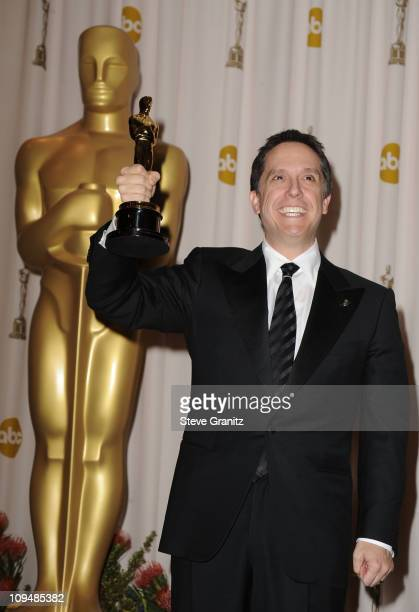 Director Lee Unkrich poses in the press room during the 83rd Annual Academy Awards held at the Kodak Theatre on February 27 2011 in Hollywood...