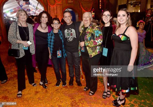 Director Lee Unkrich with guests and family at the US Premiere of DisneyPixar's 'Coco' at the El Capitan Theatre on November 8 in Hollywood California
