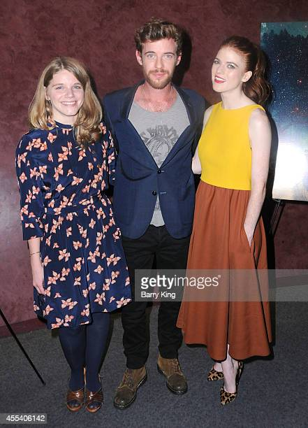 Director Leigh Janiak actor Harry Treadaway and actress Rose Leslie attend the Los Angeles premiere of 'Honeymoon' at the Landmark Theater on August...
