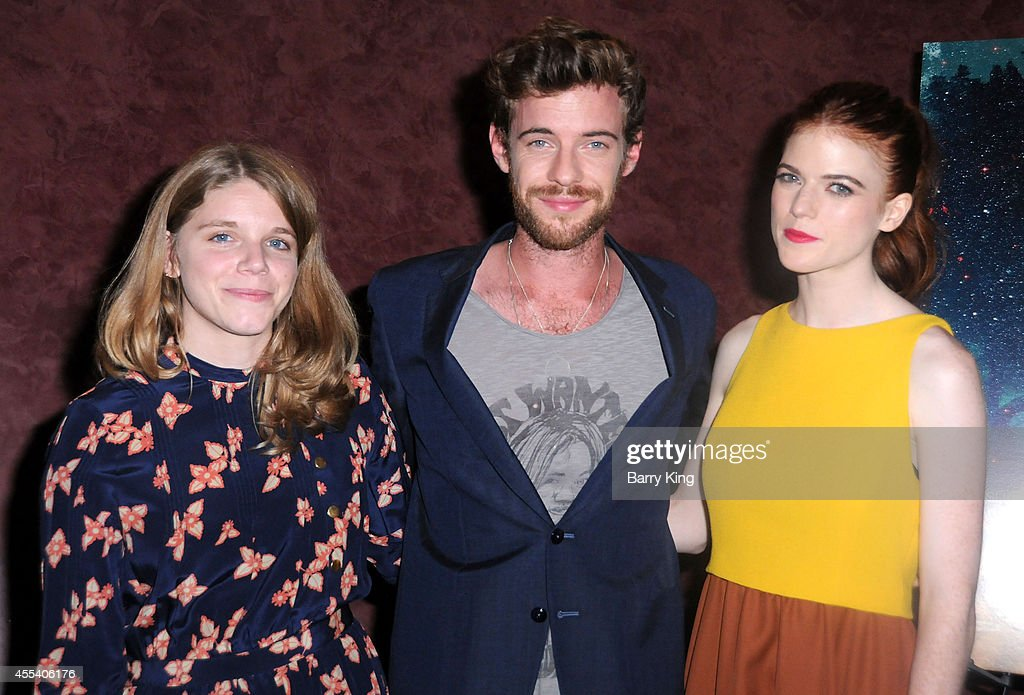 Director Leigh Janiak, actor Harry Treadaway and actress Rose Leslie attend the Los Angeles premiere of 'Honeymoon' at the Landmark Theater on August 26, 2014 in Los Angeles, California.