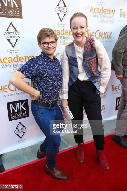 Director Leigh Joel Scott and Actor Liv Hewson attend the 6th International Academy of Web Television Awards at Skirball Cultural Center on August 24...