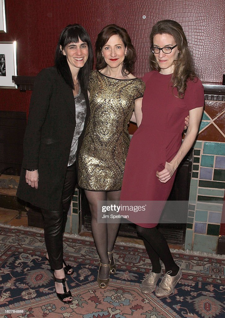 Director Leigh Silverman, actress Edie Falco and Playwright Liz Flahive attend 'The Madrid' Opening Night at Red Eye Grill on February 26, 2013 in New York City.