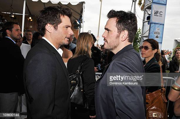Director Len Wiseman and actor Matt Dillon at Stoli at the 2008 Film Independent's Spirit Awards at the Santa Monica Pier on February 23, 2008 in...