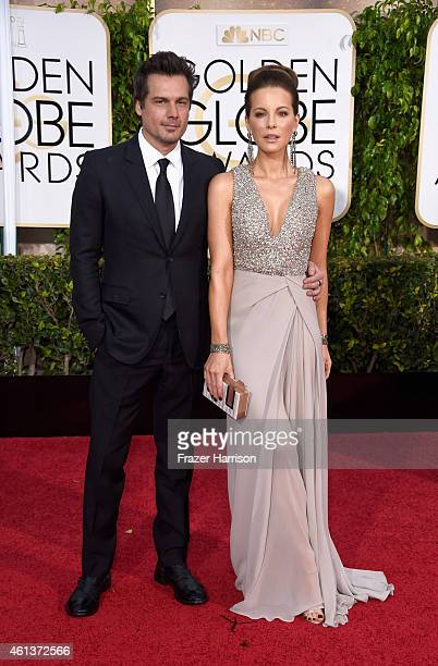 Director Len Wiseman and actress Kate Beckinsale attend the 72nd Annual Golden Globe Awards at The Beverly Hilton Hotel on January 11 2015 in Beverly...