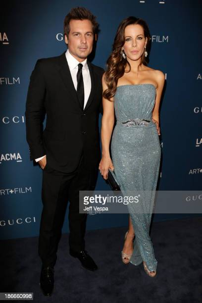 Director Len Wiseman and actress Kate Beckinsale, wearing Gucci, attend the LACMA 2013 Art + Film Gala honoring Martin Scorsese and David Hockney...