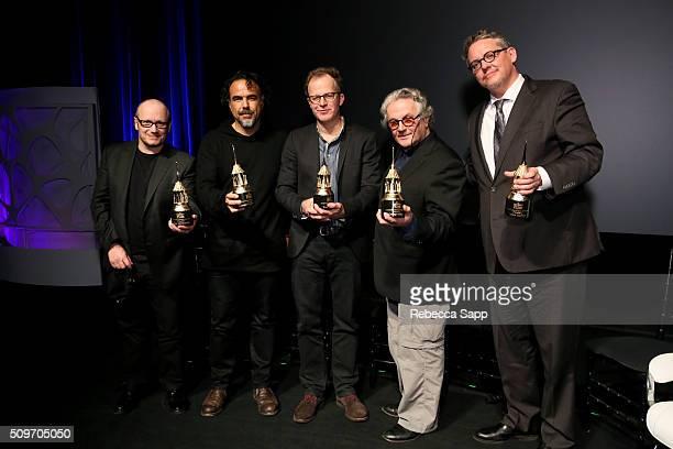 Director Lenny Abrahamson Director Alejandro G Inarritu Director Tom McCarthy Director George Miller and Director Adam McKay receive the Outstanding...