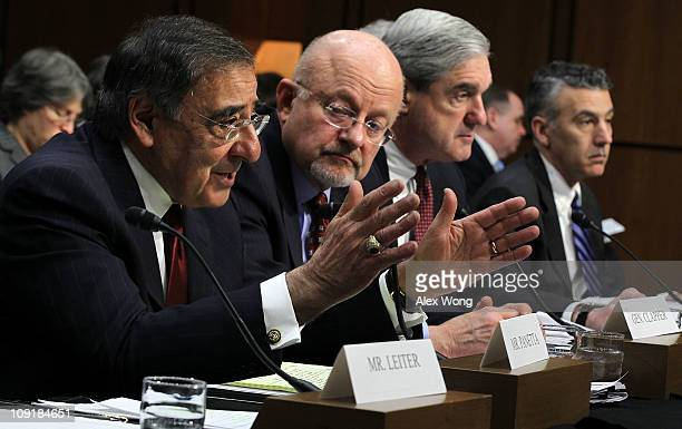 CIA Director Leon Panetta Director of National Intelligence James Clapper FBI Director Robert Muelle and Assistant Secretary of State for...