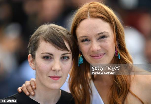 Director Leonor Serraille and actress Laetitia Dosch attend the 'Jeune Femme' photocall during the 70th annual Cannes Film Festival at Palais des...