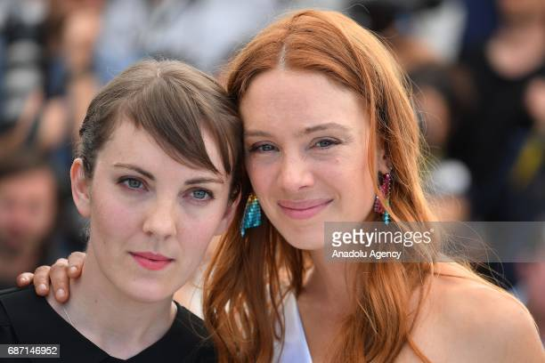 Director Leonor Serraille and Laetitia Dosch pose during a photocall for the film Jeune Femme un certain regard at the 70th annual Cannes Film...