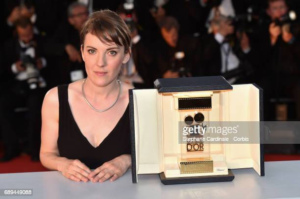 Director Leonor Serraille winner of the Camera d'Or for best first film from any section of the entire festival for 'Jeune femme' attends the Palme...