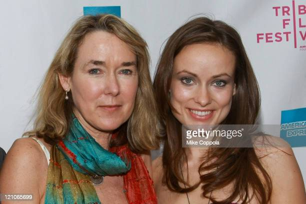 Director Leslie Cockburn and daughter actress Olivia Wilde attend the premiere of American Casino during the 8th Annual Tribeca Film Festival at the...