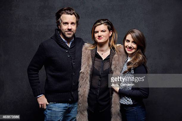 Director Leslye Headland Alison Brie and Jason Sudeikis from 'Sleeping with Other People' pose for a portrait for the Los Angeles Times at the 2015...
