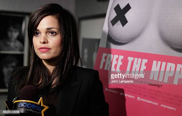 Director Lina Esco attends Free The Nipple New York Premiere at IFC Center on December 11 2014 in New York City