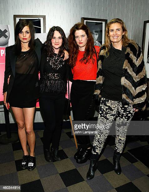 Director Lina Esco Gigi Graff Veronice Eveno and Liza Azuelon attends 'Free The Nipple' New York Premiere at IFC Center on December 11 2014 in New...