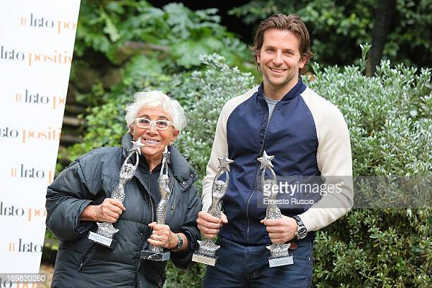Director Lina Wertmuller and actor Bradley Cooper attend the 'Silver Linings Playbook' photocall at De Russie Hotel on January 21 2013 in Rome Italy