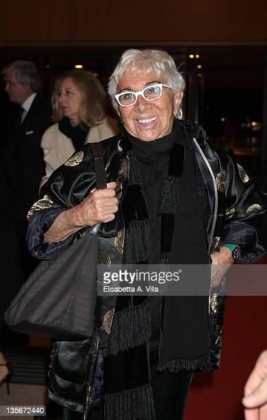 Director Lina Wertmuller attends 'Carlo Ponti Tribute Le Musiche Dei Suoi Film' at Auditorium Parco Della Musica on December 12 2011 in Rome Italy