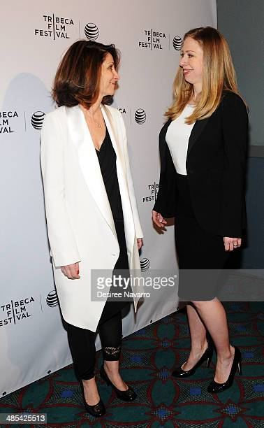 Director Linda GMills and executive producer Chelsea Clinton of the film 'Of Many' attend the Shorts Program City Limits during the 2014 Tribeca Film...